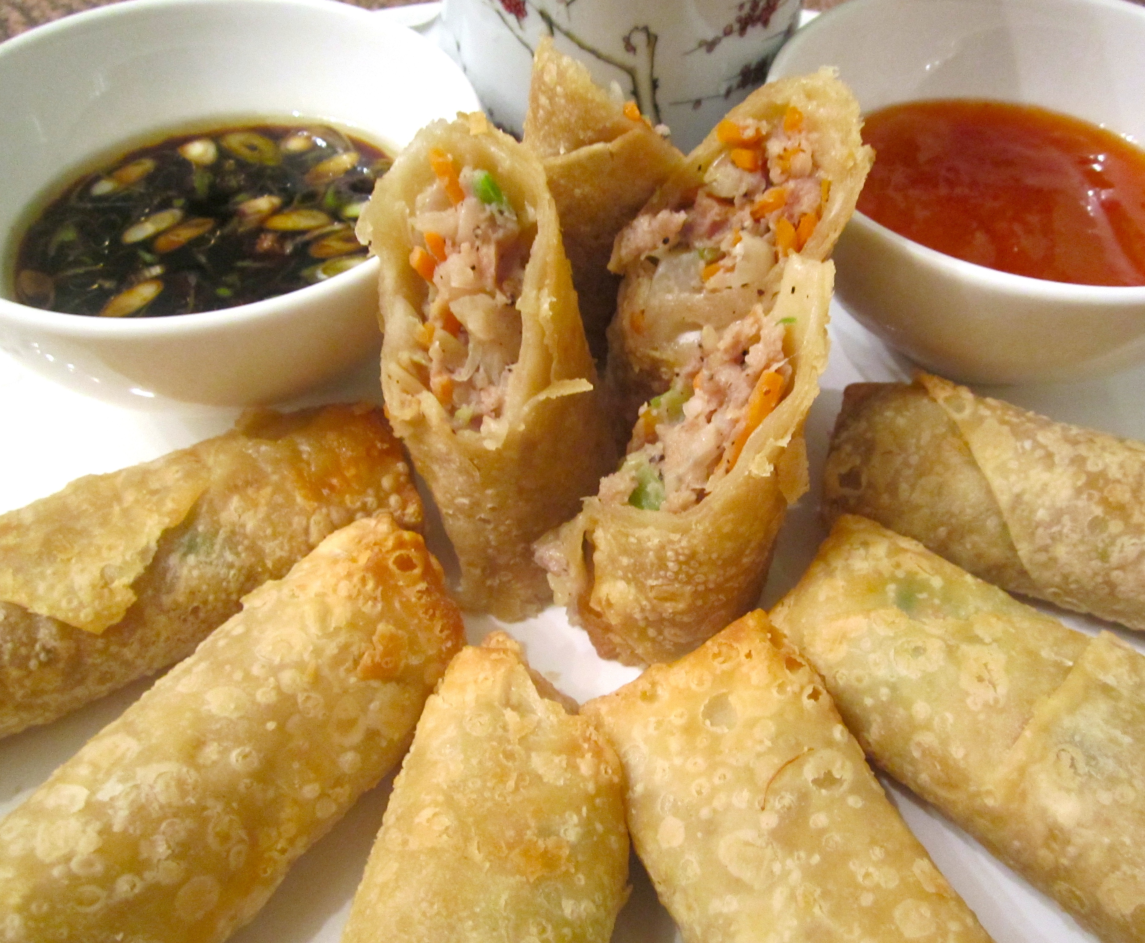 Baked Egg Rolls With Pork And Vegetables