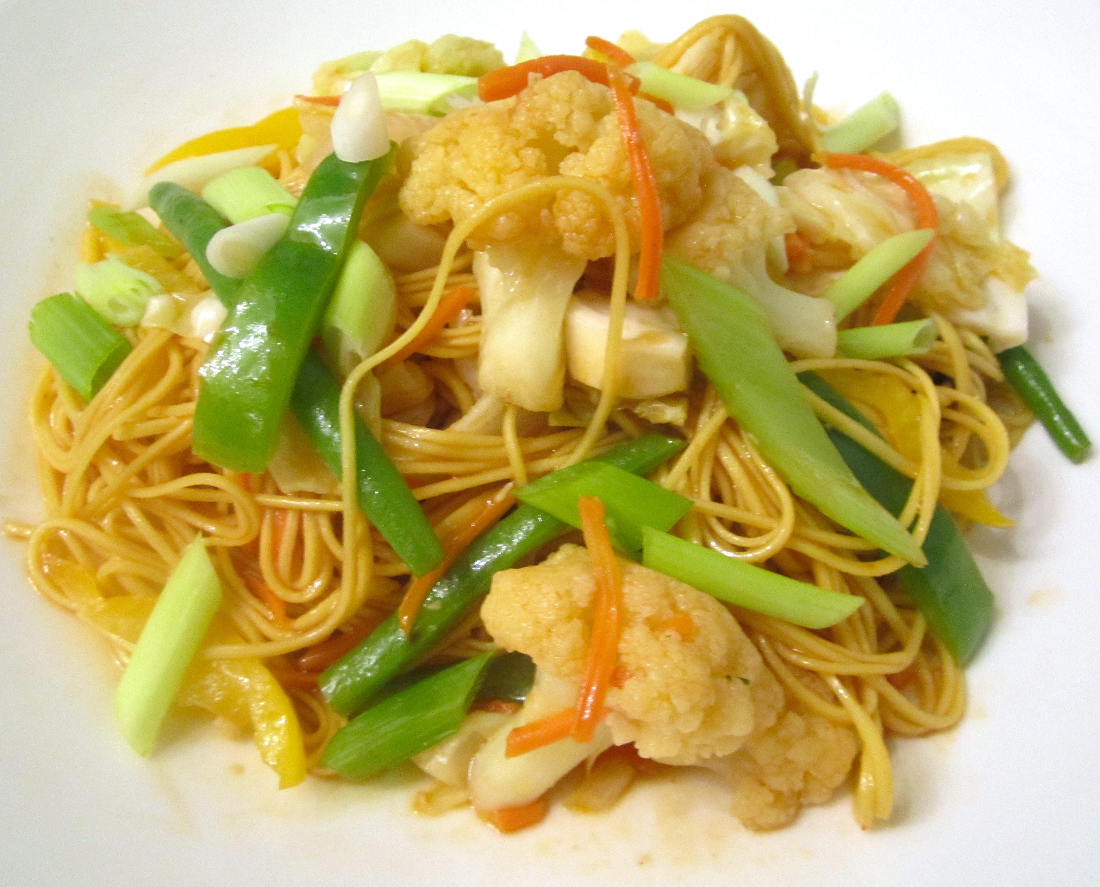 "Stir Fried Vegetables & Longevity Noodles "" | Chefsopinion"