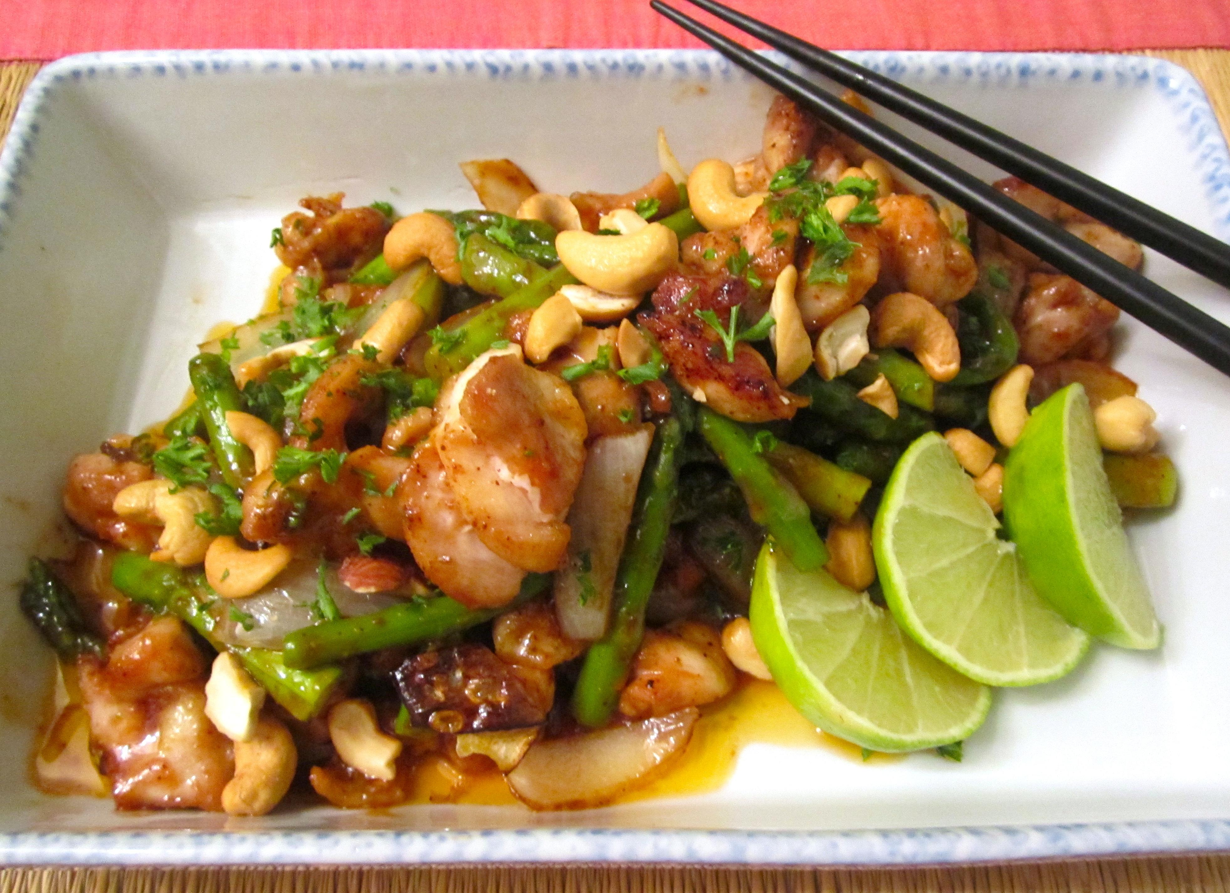 """Stirfried Chicken, Asparagus & Cashew Nuts """"   Chefsopinion"""