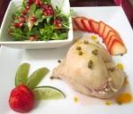 Poached Chicken, Arugula, Strawberry & Pomegranate ...