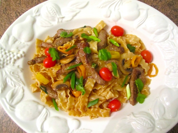Mafaldine, Striploin, Mushrooms & Chilis