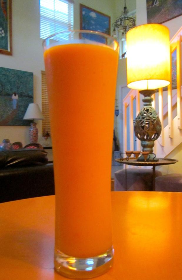 Indoor Sunshine: Vodka & Mango Smoothie
