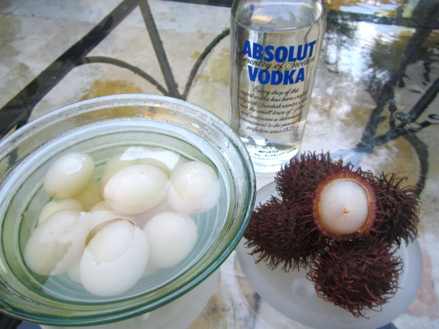 End Of The Week Treat # 3  Vodka Macerated Rambutans