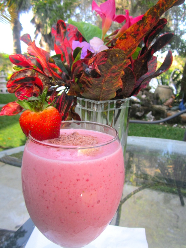Strawberry, Vodka & Chocolate Smoothie