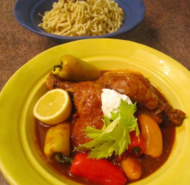 Chicken Paprikash & Spaetzle