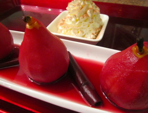 Port Wine & Beoujolais Poached Pears
