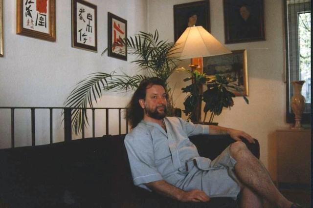 hans susser. rare vacation. at home in cologne. ca 1987
