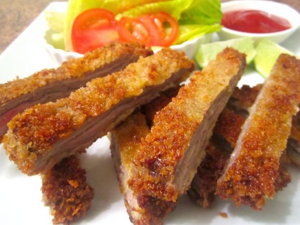 Panko Breaded Skirt Steak & Tonkatsu Sauce