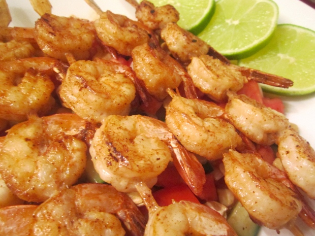 Malay-Inspired Shrimp & Salad