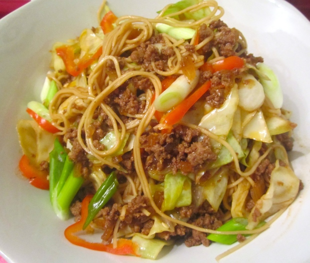 Fiery Lamb With Noodles And Vegetables