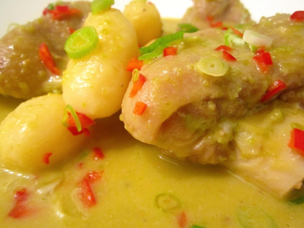 Stew Of Split Pork Hock, Split Green Peas & Potatoes