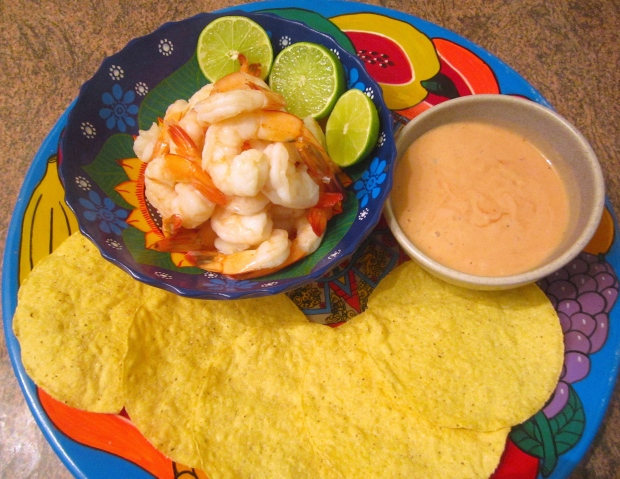 Shrimp Cocktail, Fried Tortilla & Classic French Cocktail Sauce