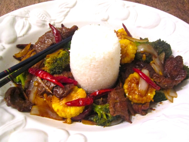 Szechuan style stir fried beef