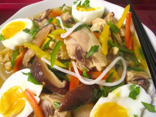Chicken Noodle Soup & Egg