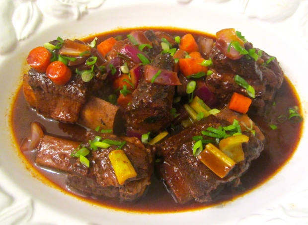 Beef Short Rib's Braised In Merlot