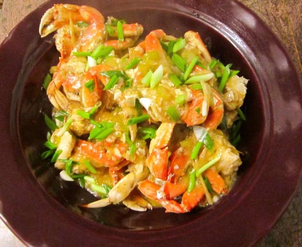 Chinese Ginger & Garlic Crabs