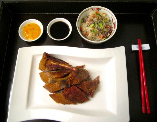 Crispy Fried Duck With Dirty Rice Sticks