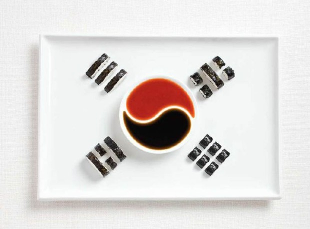 South Korea -  kimbap and sauces