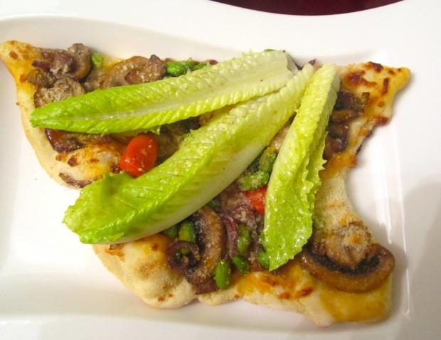Mushroom Pizza With Edamame