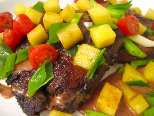 "Sauteed Veal Liver ""Hawaii"""