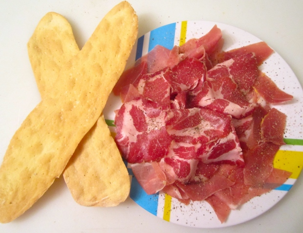 Coppa Ham, Prosciutto Ham & Lingue Di Suocera (Mother In Law Tongues)