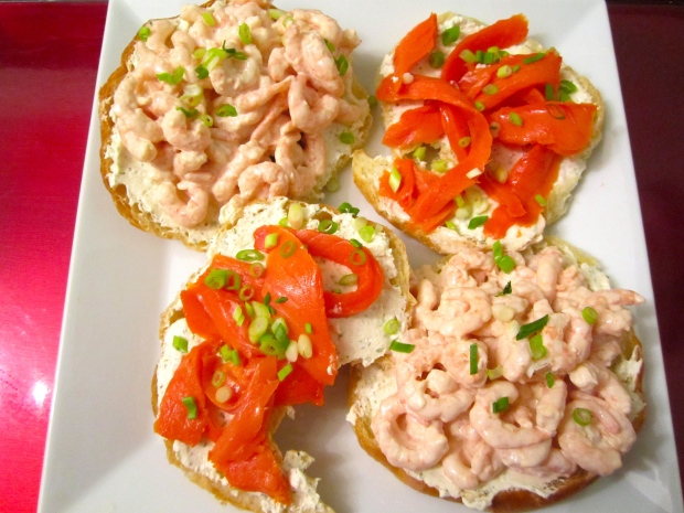 Smoked Salmon, Boursin & Shrimp Salad Croissant's