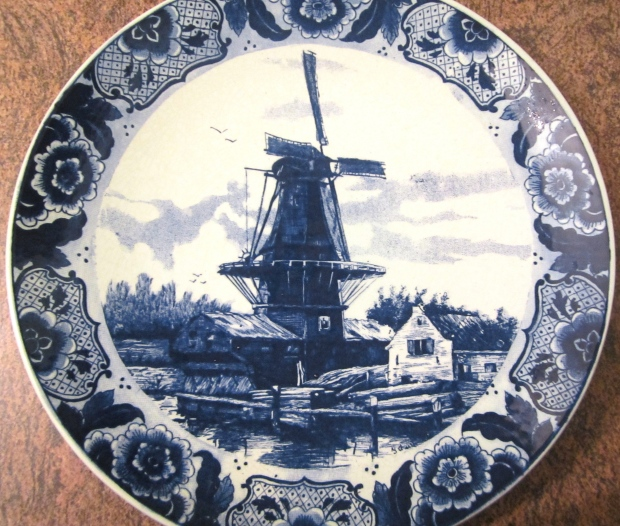 antique Delft ware. One of a pair