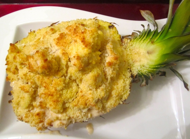 Gratinated Chicken Salpicon In Pineapple