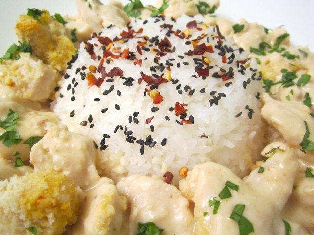 Gratinated Chicken Salpicon In Pineapple With Rice