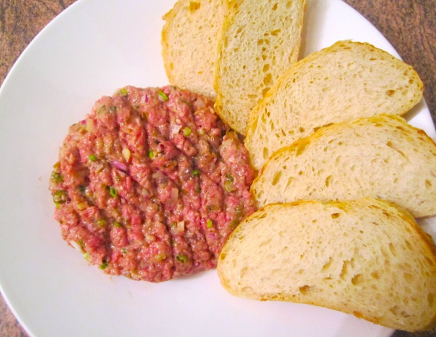 Steak Tartar & Sour Dough Bread