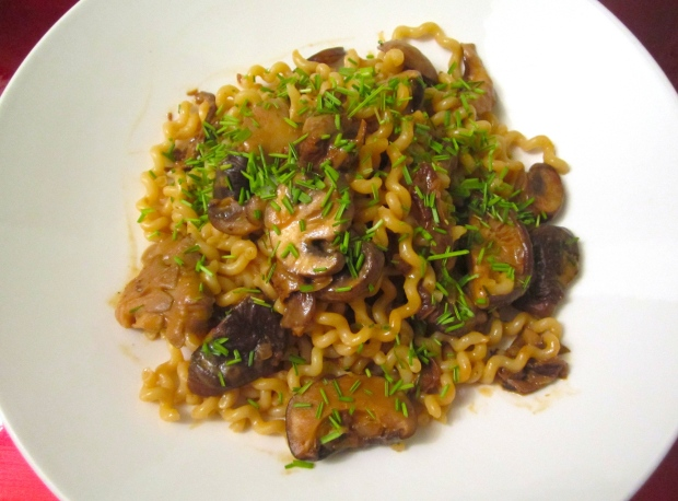 Fusilli Col Buco With Mushrooms In Merlot Cream