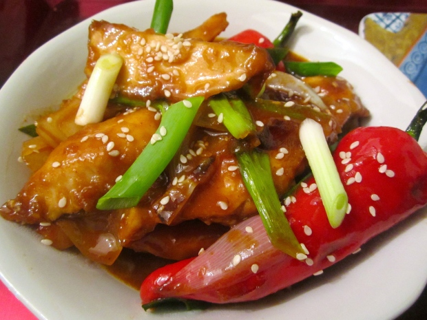Szechuan Chicken & Fan
