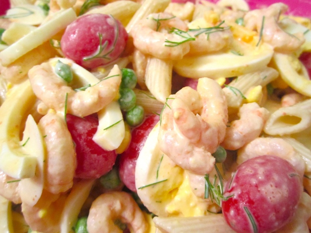 Shrimp, Pasta And Egg Salad