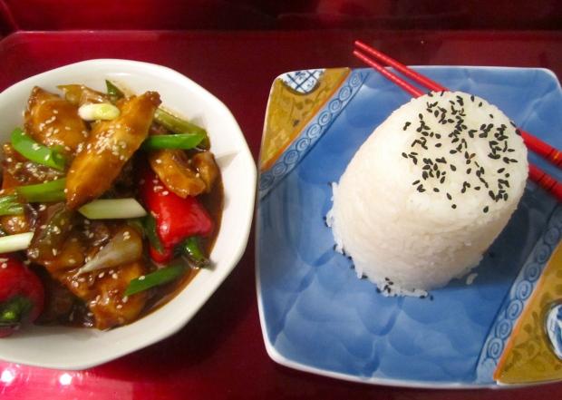 Szechuan Style Chicken & Fan