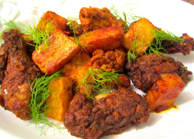 The Ultimate Fried Chicken & Angry Potatoes  (Papas Bravas)