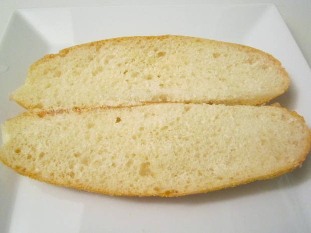 slice italian garlic roll in half (toasting optional)