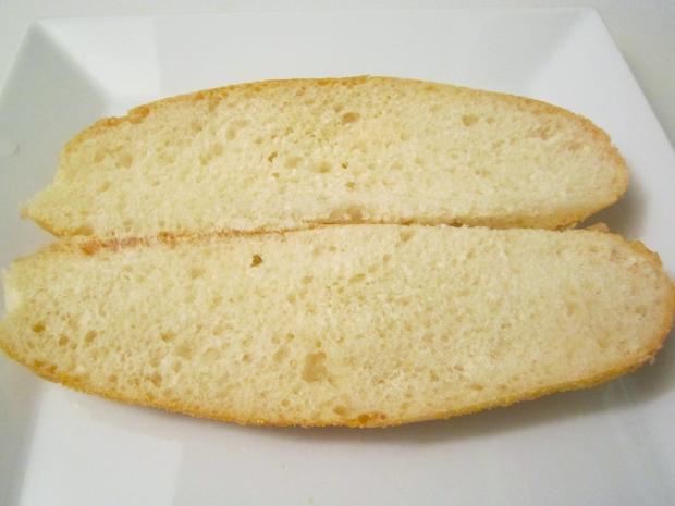 slice italian garlic roll in half (toasting optional)