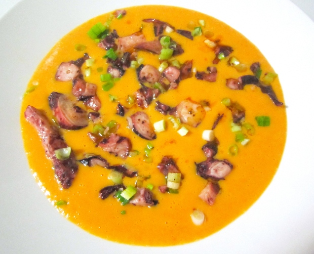 top soup with the octopus