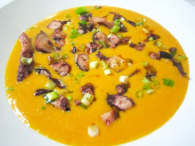 C:\Users\HANS\Desktop\To Post\Food\Potato And Carrot Cream With Spicy Octopus