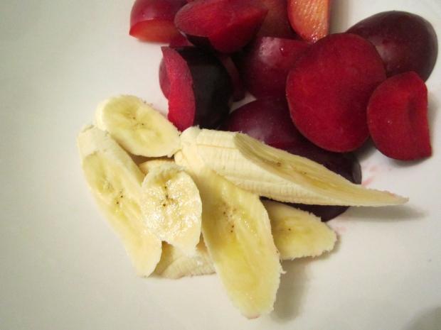 plum & banana
