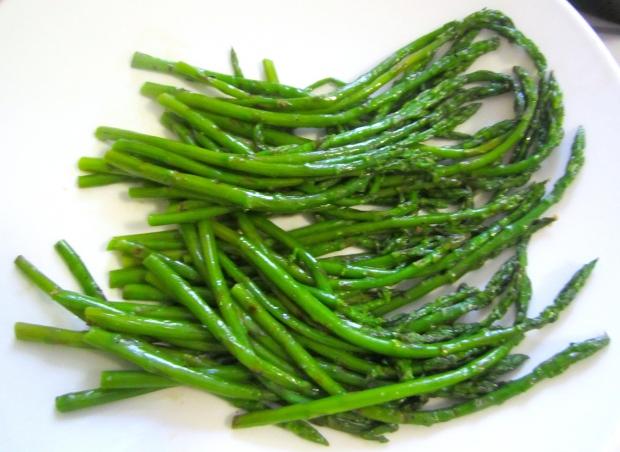 plate asparagus