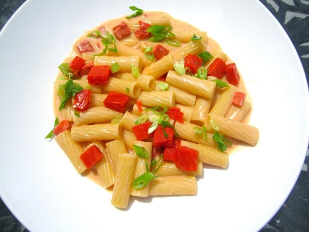 Pasta With Smoked Salmon In Horseradish/Mustard Cream