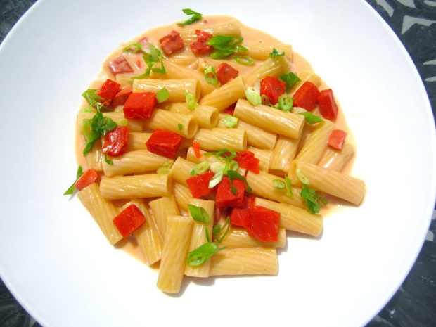 Pasta With Smoked Salmon In Horseradish/Mustard Cream