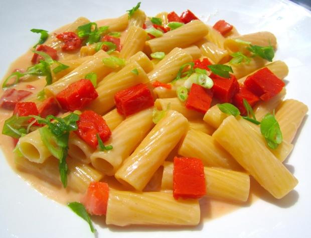 Pasta With Smoked Salmon In HorseradishMustard Cream