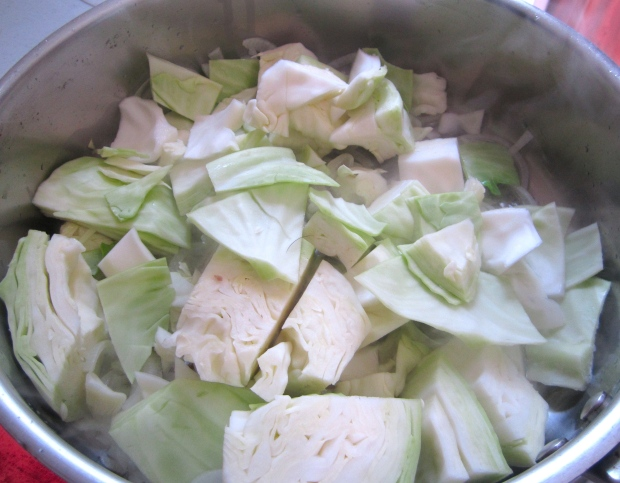 add diced cabbage