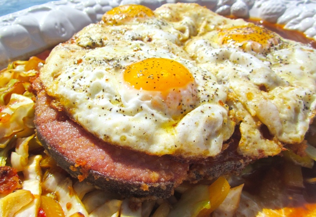 Hickory Smoked Panko Crusted Bone-In Ham Steak