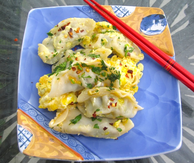 "Chicken & Scallion Dumplings ""Foo Yong"""