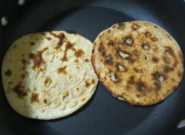 put paratha in a pan on low heat