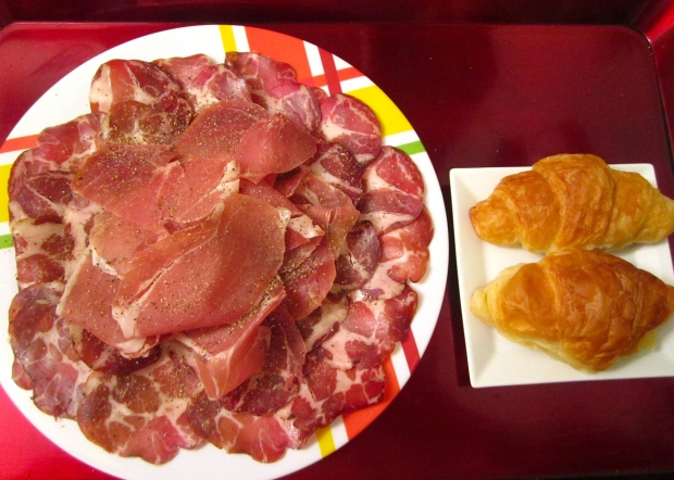 Breakfast Of Champions # 41 -  Copa Ham, Prosciutto Ham And Croissants