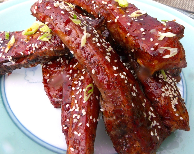Asian Style Glazed Pork Ribs With Fermented Bean Sauce